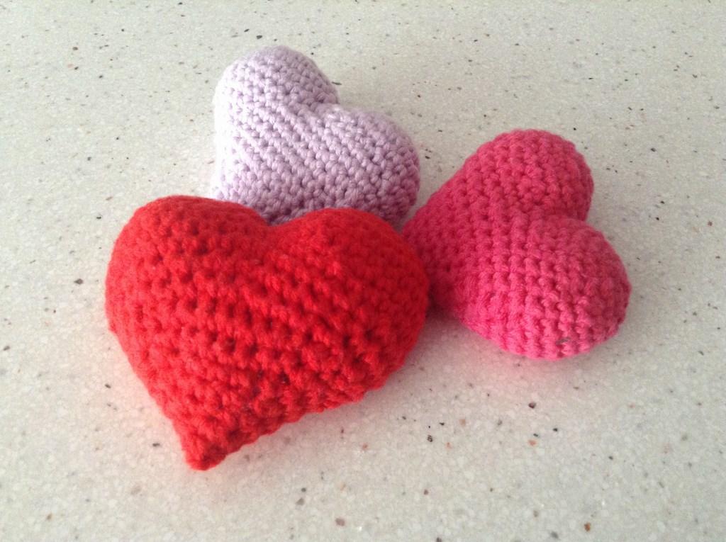 Contemporáneo Modelo Del Corazón 3d Crochet Composición - Manta de ...
